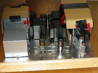 真空管アンプ製作:真空管を取り付けて